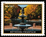 5348 $25.50 Bethesda Fountain Mint Single 5348nh