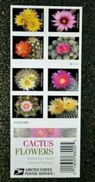 5350-59a Forever Cactus Flowers Booklet of 20 5359a