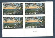 5360 Forever Alabama Statehood Plate Block of 4 5360pb