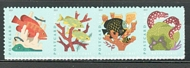 5363-66 (35c) Coral Reefs Mint Horizontal Strip of 4 5363-6blk