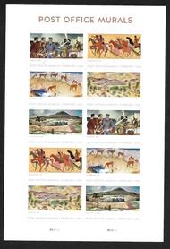 5372-6 Forever  Post Office Murals Mint Sheet of 10 5372-6sh