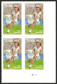 5377 Forever Maureen Little Mo Connolly Brinker Plate Block 5377pb
