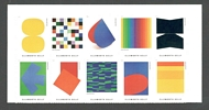 5382-91 Forever Ellsworth Kelly Block of 10 5382-91blk