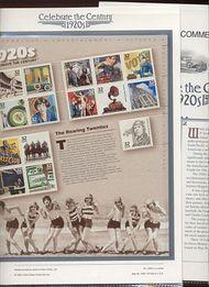 3184 1920's Celebrate The Century USPS CAT 538A  Commemorative Panel cp538a