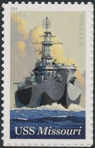 5392 Forever USS Missouri Mint  Single 5392nh