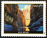 5429 $7.75 Big Bend Priority Mail Mint Single 5429nh