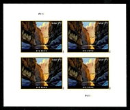 5429 $7.75 Big Bend Priority Mail Mint Sheet of 4 5429sh