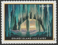 5430 $26.35 Grand Island Ice Caves Express Mail Mint Single 5430nh