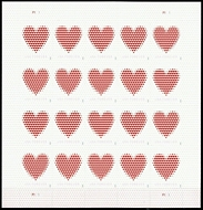 5431 Forever Made of Hearts  Mint Sheet of 20 5431sh