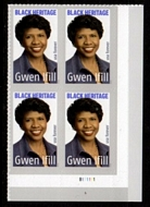 5432 Forever Gwen Ifill Mint Plate Block of 4 5432pb