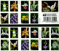 5445-54 (5454a)  Forever Wild Orchids Booklet of 20 5454anh