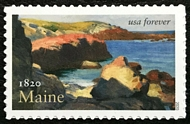 5456 Forever Maine Statehood Mint Single 5456nh