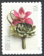 5457 Forever Contemporary Boutonniere Mint Single 5457nh