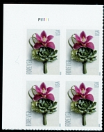 5457 Forever Contemporary Boutonniere Mint Plate Block of 4 5457pb