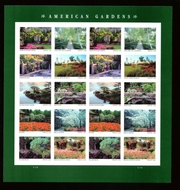 5461-70 Forever American Gardens   Mint Sheet of 20 5461-70sh