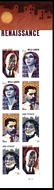 5471-74 Forever Voices of the Harlem Renaissance Mint Plate Block of 8 5471-74pb8