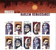 5471-74 Forever Voices of the Harlem Renaissance Mint Top  Block of 10 5471-74top