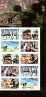 5475-79  Enjoy The Great Outdoors Mint Plate Block of 10 5475-9pb10