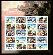 5475-79  Enjoy The Great Outdoors Mint Sheet of 20 5475-9sh