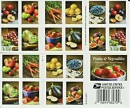 5484-93 (5493b) Forever Fruits and Vegetables Double Sided Booklet of 20 5493b