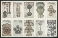 5504-5513  Forever Ruth Asawa Mint Block of 10  5504-5513blk