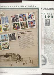 3185 1930's Celebrate The Century USPS CAT 551A  Commemorative Panel cp551a