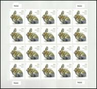 5544 20c Brush Rabbit Mint Sheet of 20 5544sh