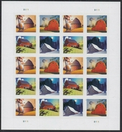 5546-29  Postcard Rate Barns Mint Sheet of 20 5546-9sh