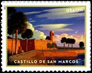 5554 $7.95 Castillo de San Marcos Mint  Single 5554nh