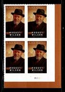 5555 Forever August Wilson Mint Plate Block 5555pb