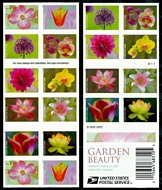 5567a Forever Garden Beauty Mint Double Sided  Booklet of 20 5567a
