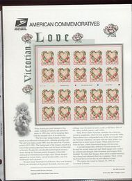 3274 33c Victorian Love  USPS CAT 559 Commemorative Panel cp559
