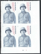 5593 Forever Japanese American Soldiers of WWII Mint Plate Block of 4 5593pb