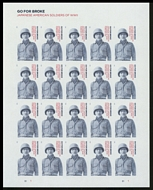 5593 Forever Japanese American Soldiers of WWII Mint Sheet of 20 5593sh