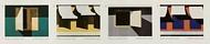 5594-5597  Forever Emilio Sanchez  Mint  Horizontal Strip of 4 5594-97strip