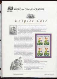 3276 33c Hospice Care USPS CAT 561 Commemorative Panel cp561