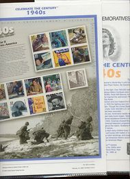 3186 1940's Celebrate The Century USPS CAT 562  Commemorative Panel cp562