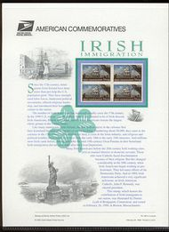 3286 33c Irish Immigration USPS CAT 563 Commemorative Panel cp563