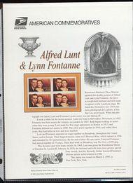 3287 33c A. Lunt & Lynn Fontane USPS CAT 564  Commemorative Panel cp564