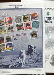 3188 1960's Celebrate The Century USPS CAT 582  Commemorative Panel cp582
