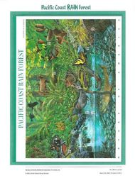 3378 33c Pacific Rain Forest Commemorative Panel CAT 596 cp596
