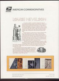 3379-83 33c Louise Nevelson Commemorative Panel CAT 597 cp597