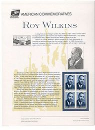 3501 34c Roy Wilkins Commemorative Panel CAT 617  cp617