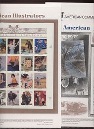 3502 34c American Illustrators Commemorative Panel CAT 618  cp618
