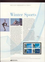 3552-5 34c Winter Sports Commemorative Panel CAT 645  18720