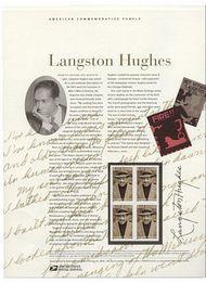 3557 34c Langston Hughes Commemorative Panel CAT 647  19113