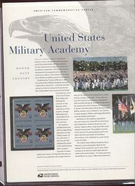 3560 34c Military Academy Commemorative Panel CAT 650 cp650
