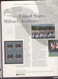 3560 34c Military Academy Commemorative Panel CAT 650 19110