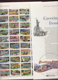 3561-3610 34c Greetings sheet of 50 Commemorative Panel CAT 651  19109