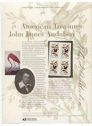 3650 37c Audubon Commemorative Panel CAT 655  3650panel